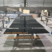 Absolute China Black Granite Using Fireplace Hearth slabs