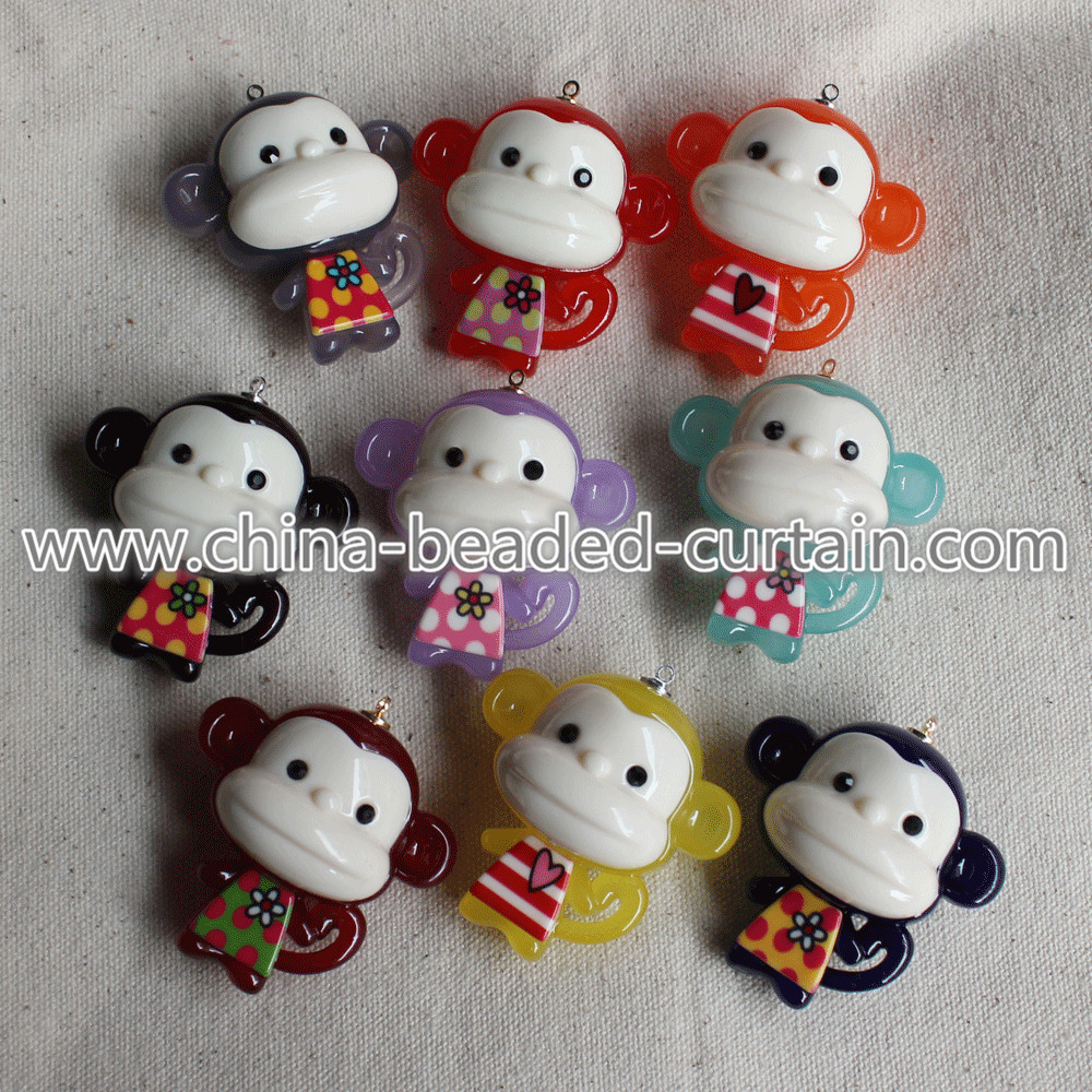 wholesale 49*50MM acrylic plastic cute Monkey charms pretty kids european beads