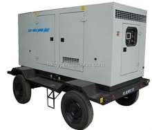 soundproof towable power generation 30KW 40KVA portable mobile trailer truck mounted silent diesel generator set