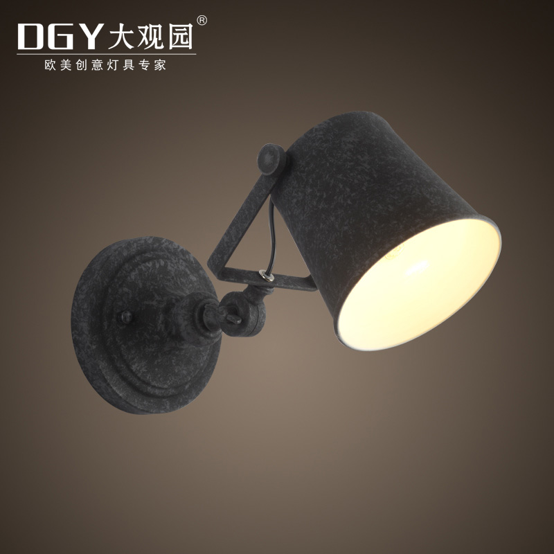 Loft Industrial swinging arm antique vintage indoor modern led wall lamp