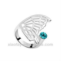 2013 Metal Angel wing design ring fashion for man