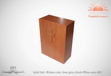 TD-H85 wood box Western urn in Funeral supplier