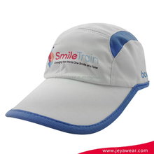 Glof cap with SMILE TRAIN printing logo white and blue healthy cloth baseball cap