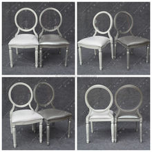 YC-D130 Popular Hotel Aluminum Clear Acrylic Back Event Wedding Chair For Venues