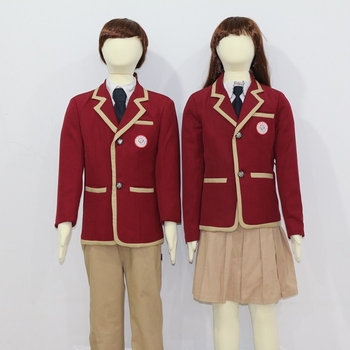 Stylish kids school clothes, high school uniform competitive factory supplier