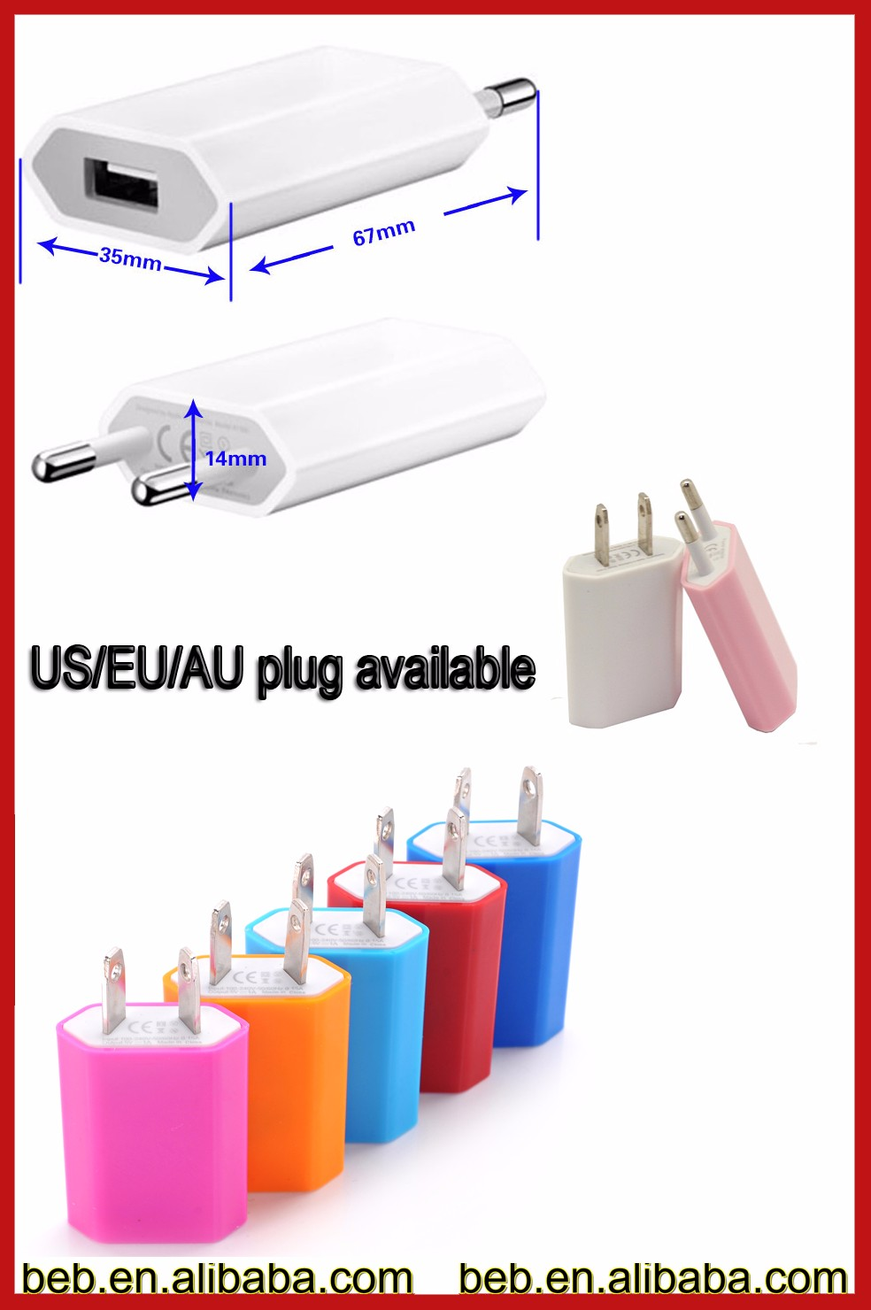 5v 1000ma slim usb wall charger for iphone 6 iphone 7 wall charger usb on promotion