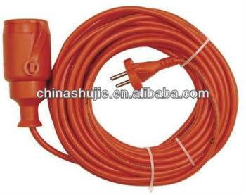 Waterproof Extension Cord Schuko Plug and Schuko Outlet