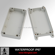 Outdoor weatherproof plastic box electronic enclosures with ears