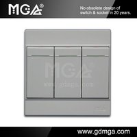 MGA A8 Series A8-K03A 3 Gang 1 Way Wall Switch