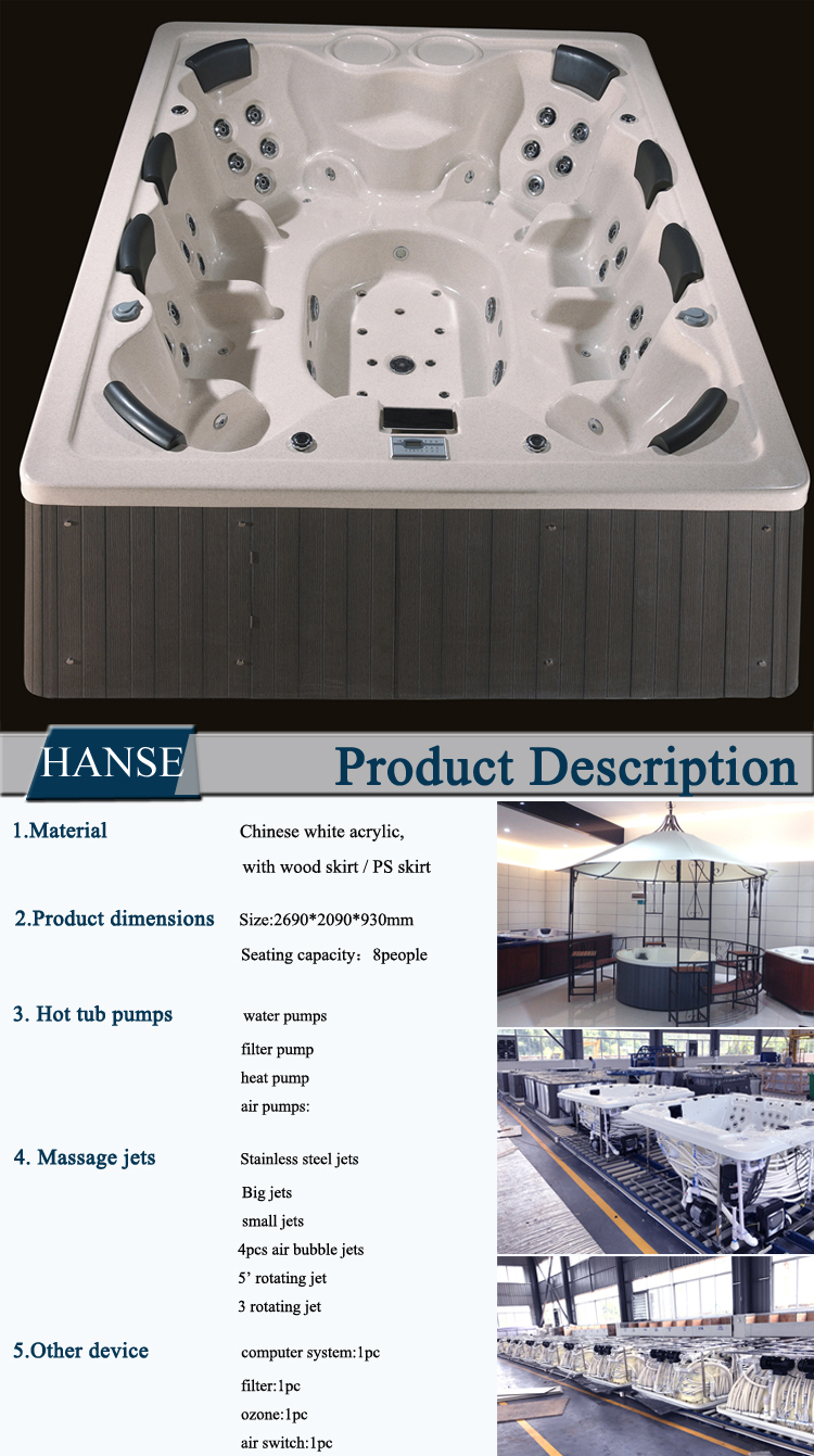 HS-B018G with computer control outdoor ssex hot tub massage spa