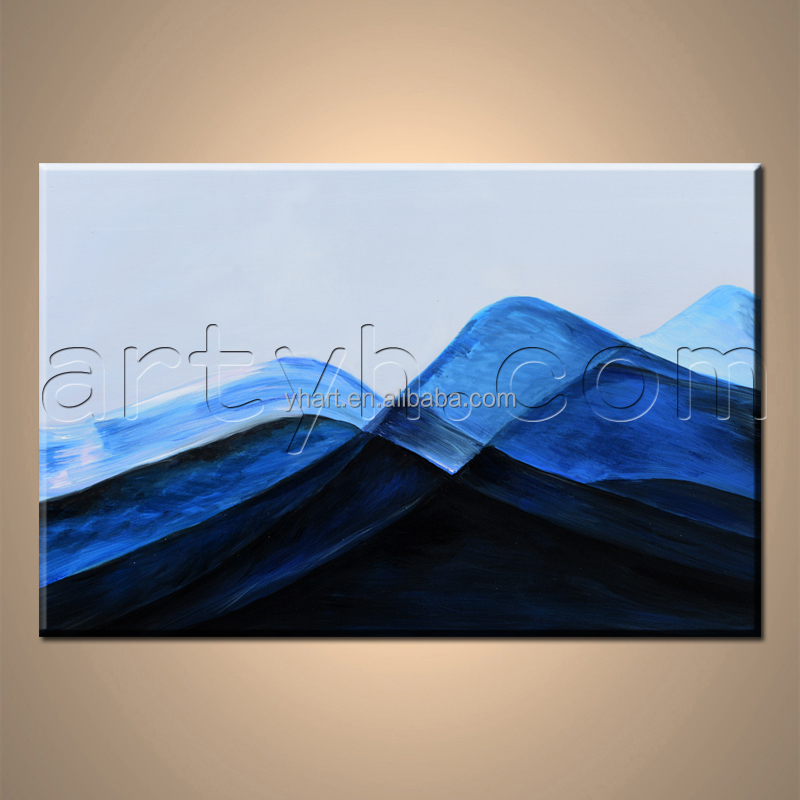 Original abstract famous mountain landscape paintings with textured