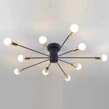 Creative iron spark living room ceiling lamp bedroom spider ceiling light modern nordic american corridor ceiling light fixtures