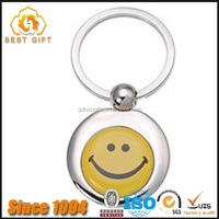 2016 custom emoji metal keychains;rotating key chain
