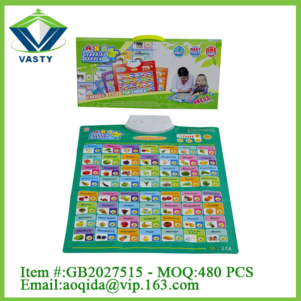 hot selling english wall chart vegetable learning chart kids educational wall charts