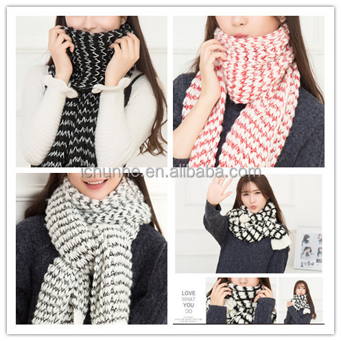 winter lady and women or men fashion pure color knit scarf winter muffler ladies scarf