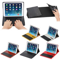 Crazy horse leather bluetooth keyboard for iPad Air 2 with TPU cover