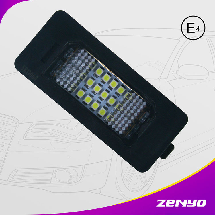 2016 newset led license plate light 3.5W 3 series 3528smd chip canbus inside error free E90 E91 E92 E93