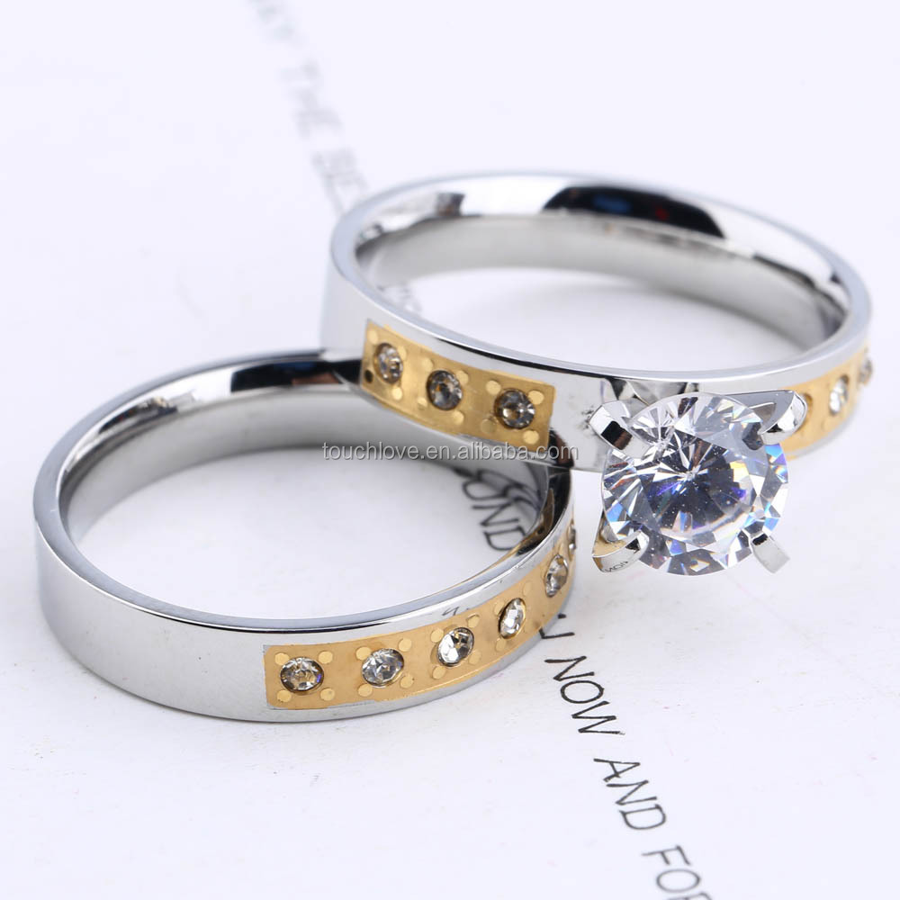 Fashionable Jewelry ,Stainless Steel Diamond Ring Jewelry Lover Ring