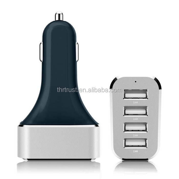 2015 Newest Black Quick charge 54W 4 USB 2.0 Ports Car Charger