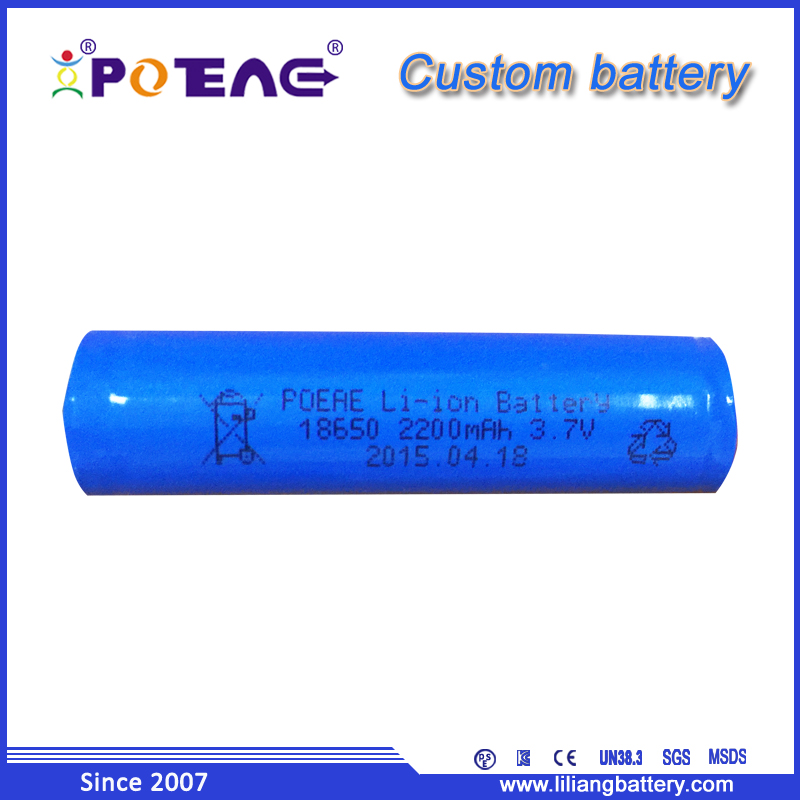 Hot sales buy rechargeable li ion 3.7V 2200mAh online battery store