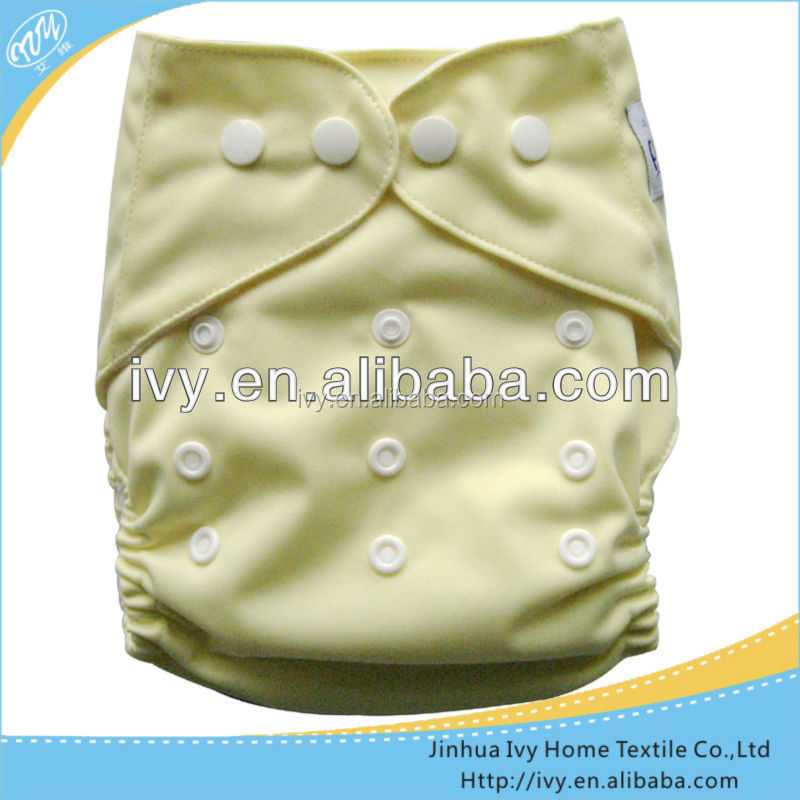 Solid PUL fashion baby all in one size disposable diaper