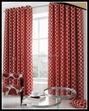 100% polyester jacquard curtain/eyelet window curtain design/blackout curtain