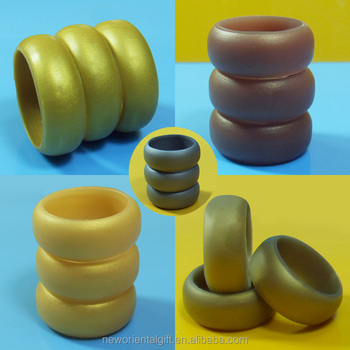 Kinds of Gold Colors Silicone Finger Rings Vape Band for Men and Women