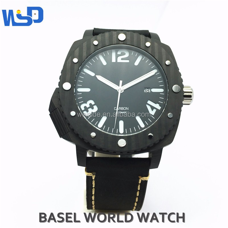 2017 wsd-606 fashion famouse men watches carbon fiber watch