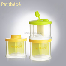 Petitbebe Factory Manufacturer 3 layers Baby Milk Powder and Food Storage Box Container