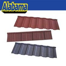 15 optional colors Africa colorful concret stone coated metal roof tile, low cost stone coated steel roof tile