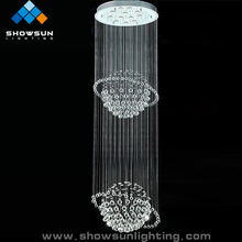 Drop led ball crystal chandelier pendant lamp