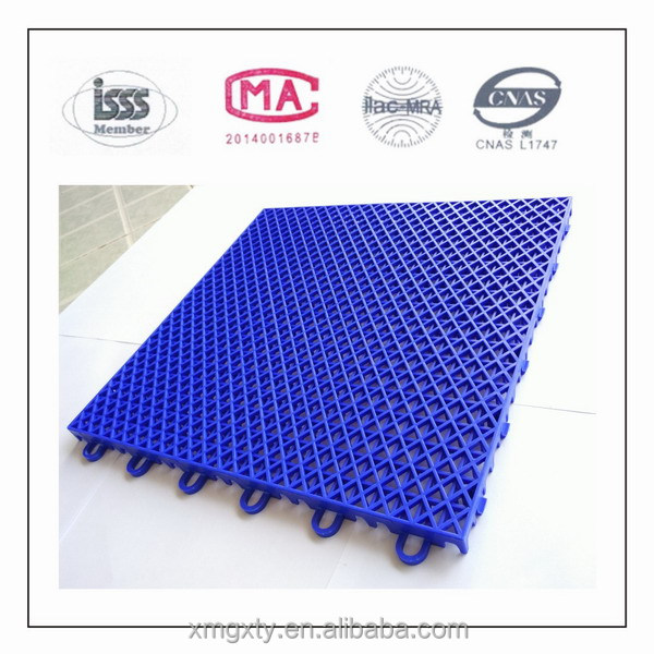 Indoor and Outdoor playground Interlocking Plastic Floor Tiles Carpet Grid