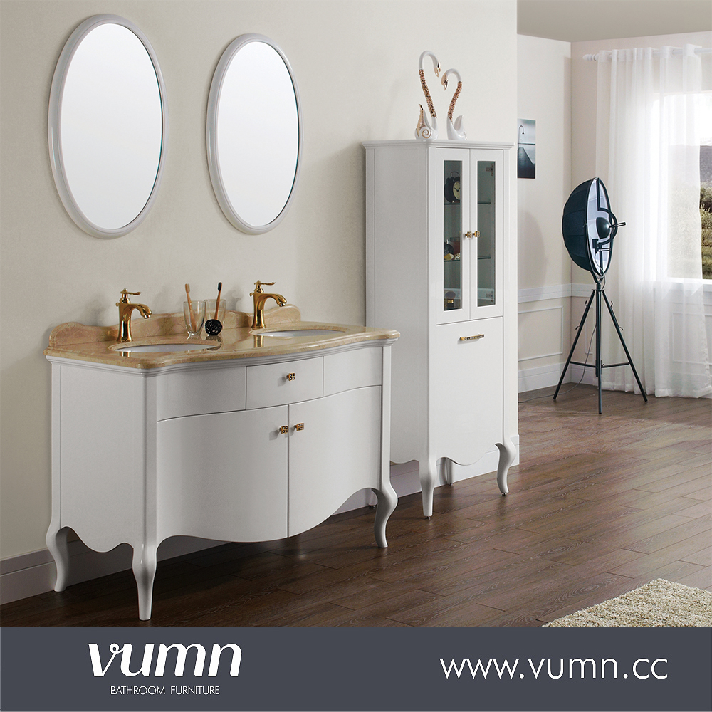 Custom double decorative mirror sink bathroom vanity