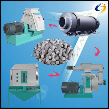 Complete pellet equipment crusher wood pelletizer pellet cooler pellet plant