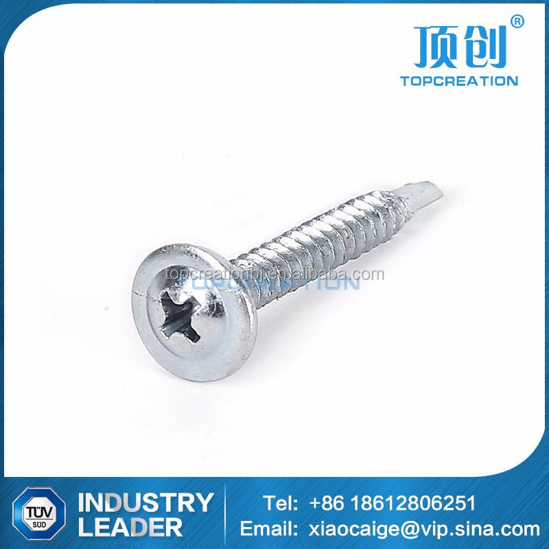 carbon steel DIN 7504Q wafer head self drilling screw hardware supplier direct sale