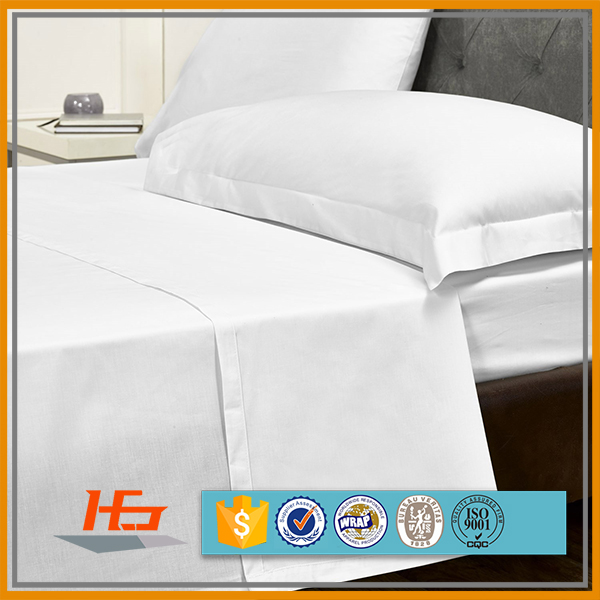 Poly Cotton Cheap Wholesale Commercial White Hotel Hospital Bed Linen
