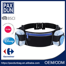 High Quality Hydration Running Belt Multifunctional Water Resistant Sport Waist Bag With 2 Water Bottles Waist Pack