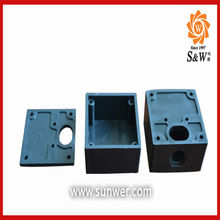 Plastic latch and hinge type junction box