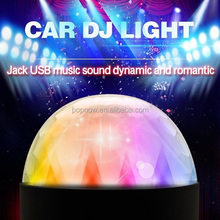 6W 6colors colorful car DJ light, led car music rhythm flashing disco lights with sound activated remote control