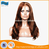 16inches #4/12 highlight color natural straight Indian remy hair wigs , supply human hair full lace wig