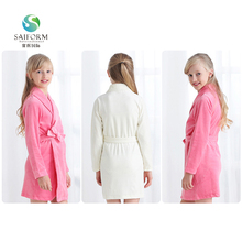 Wholesale kids cotton cheap price girls winter bathrobes