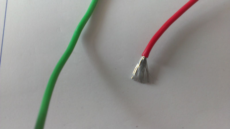Silicone rubber coated tinned copper cable