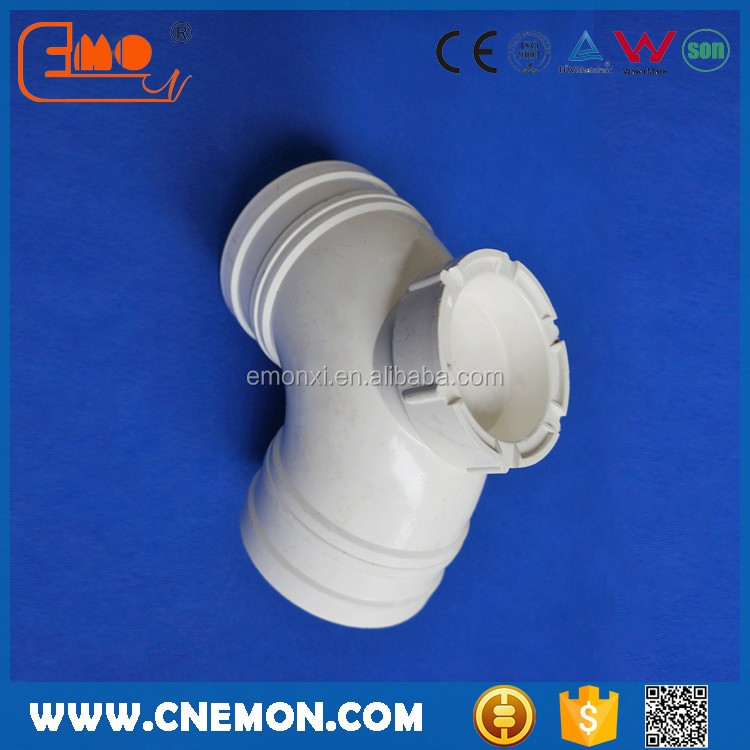 Plastic sewage PVC pipe 90 elbow bend with door