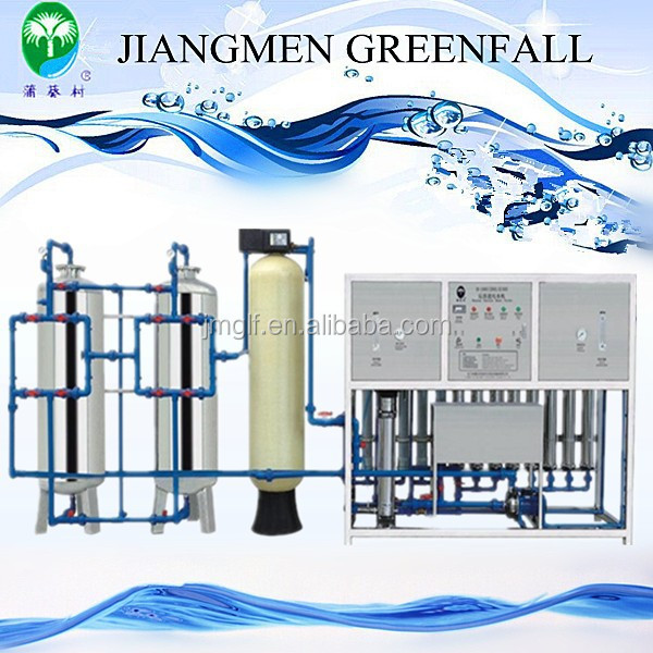 Chinese Full automatic 1000L/H water treatmentplant reverse osmosis water purifying machine with water softerner