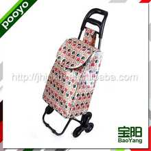 foldable shopping cart trolley canned exotic food