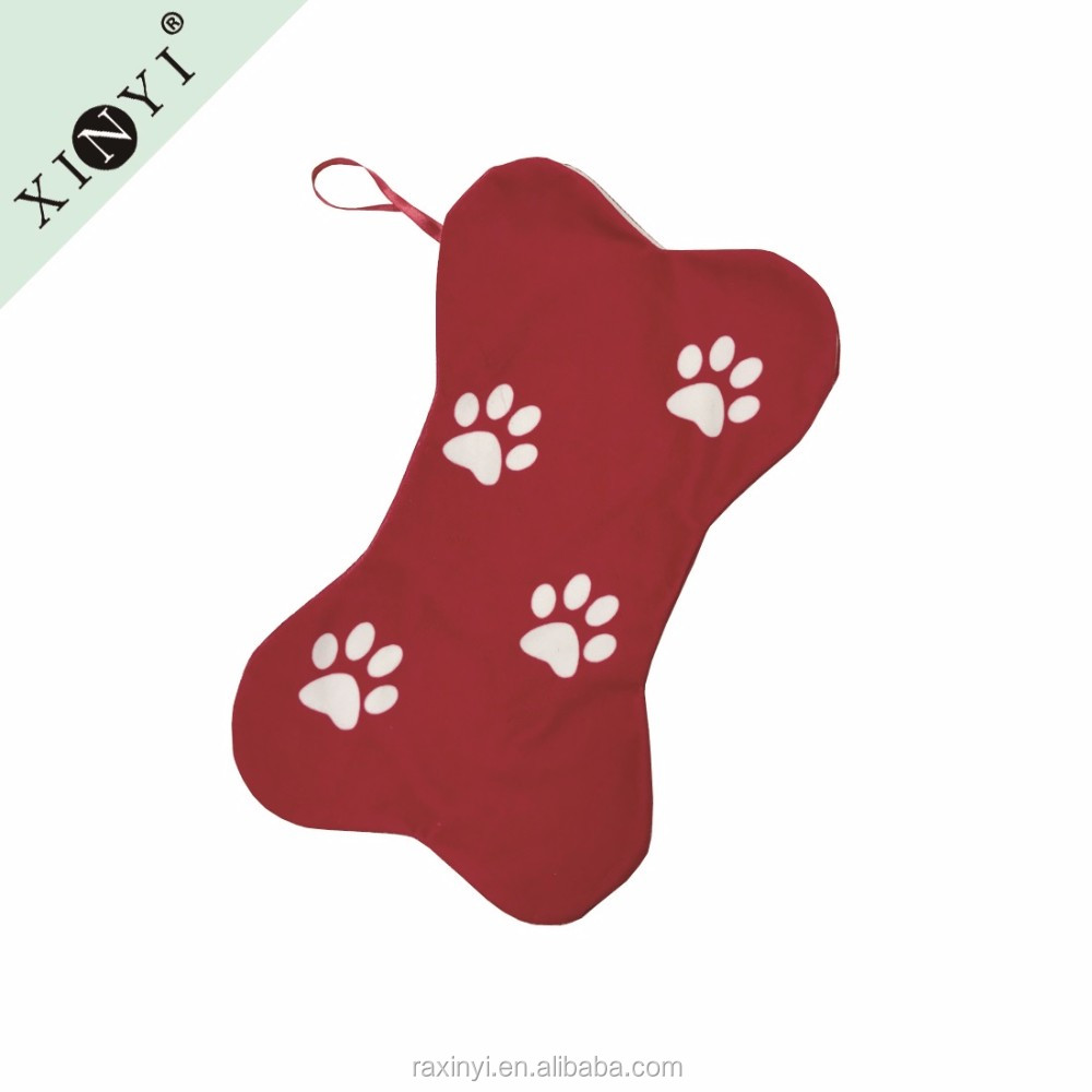 New Arrival Dog Bone Shaped Bulk Christmas Stockings Hot
