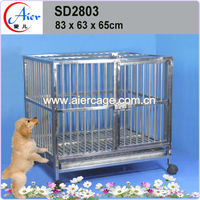 strong stainless steel breeding cage dog