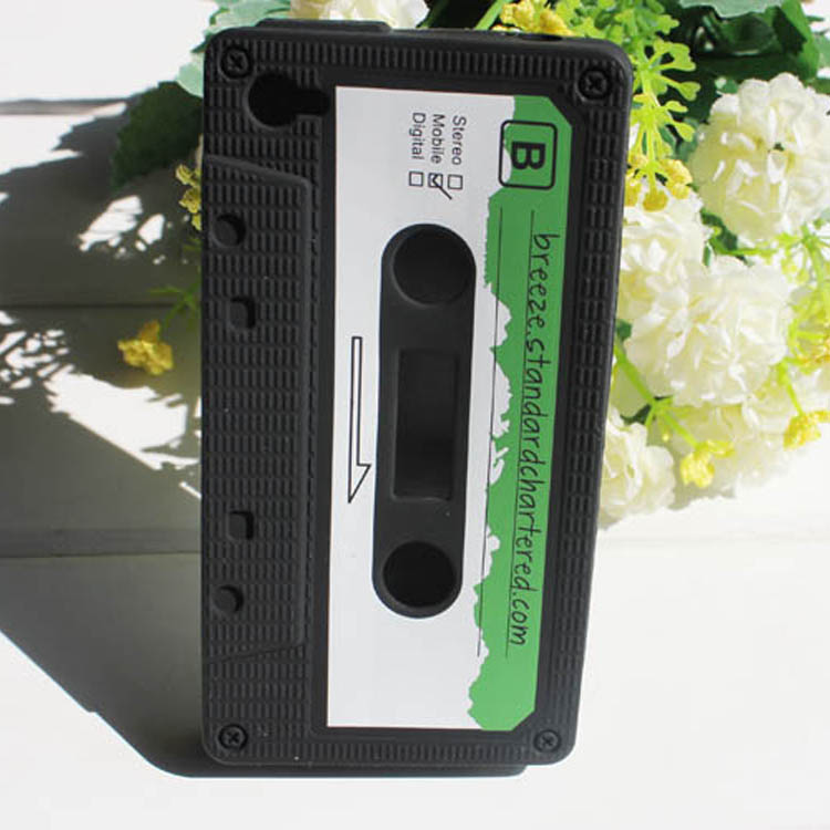 Customized cassette tape silicon case for samsung galaxy s4