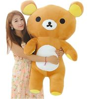 2015 Hot Sale Gift 55cm San-x Rilakkuma Relax Bear Stuffed Toys Cute Soft Pillow Plush Toy Doll