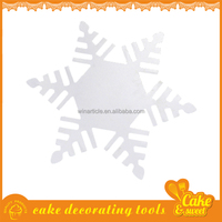 Promotion Plastic Snowflake Cake Stencil Coffee Decorations